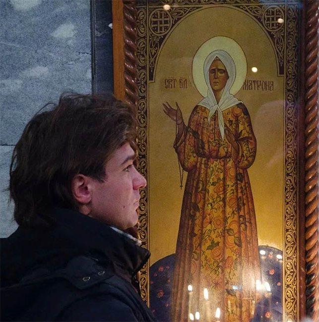 Перед иконой Матроны Московской