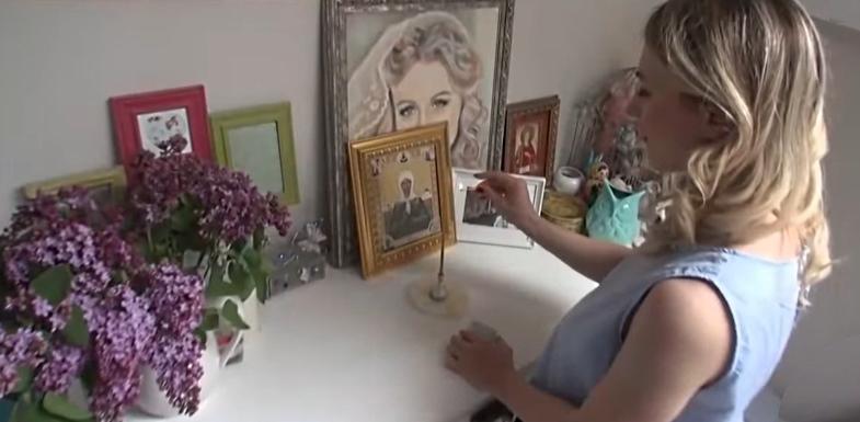 Ирина пред иконой святой Матроны