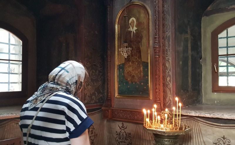 Пред иконой блаженной Матроны