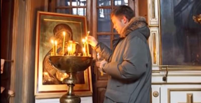 Борис Корчевников в храме