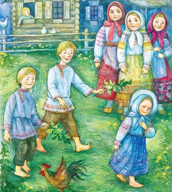 Дети обижают Матронушку крапивой