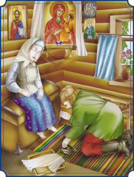 Святая Матрона и иконописец