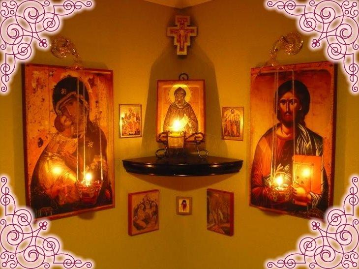 Святой красный угол в доме
