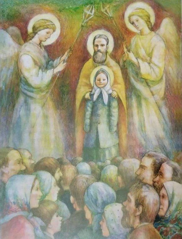 Праведный Иоанн и святая Матронушка