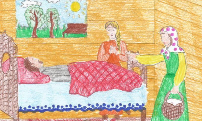Исцеление парализованного святой Матроной