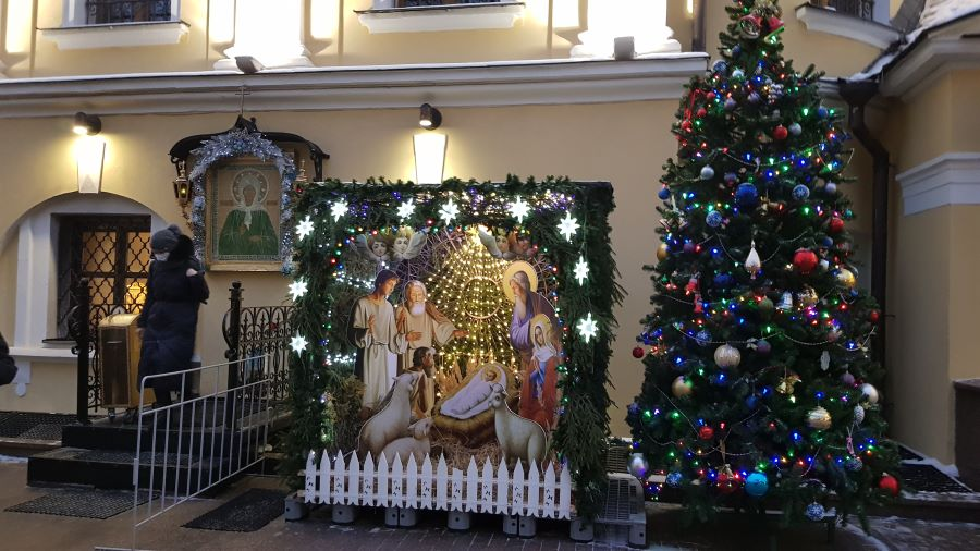 Рождественский вертеп и елочка )