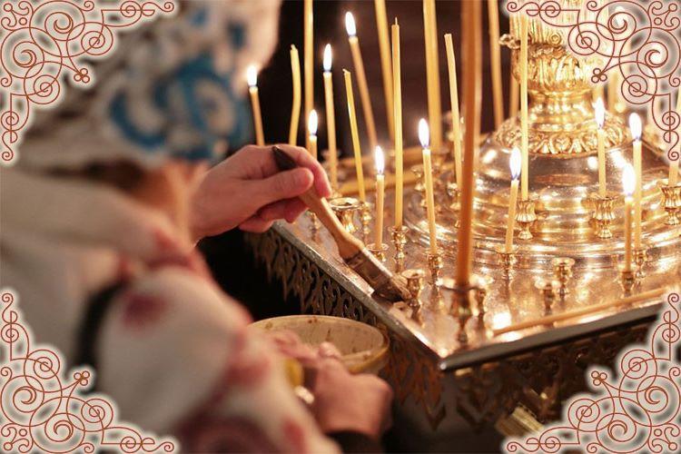 Послушание на уборку подсвечников в храме