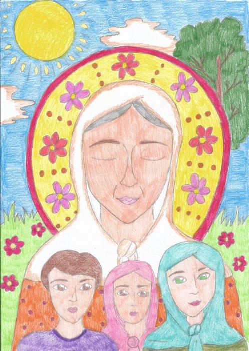 Святая Матрона покровительница детей. Рисунок
