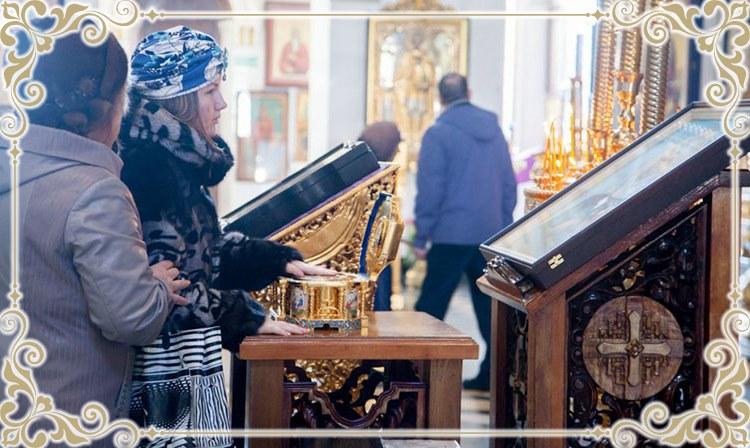 У ковчега с мощами святой Матроны Московской