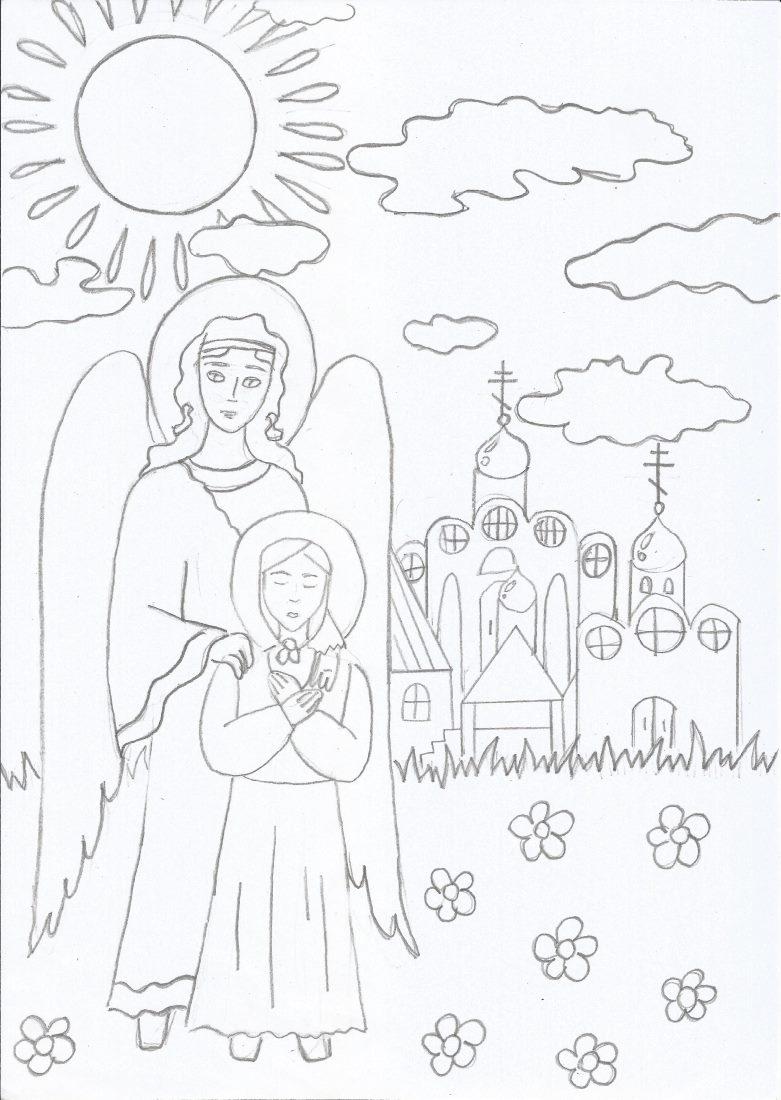 Ангел и блаженная Матронушка
