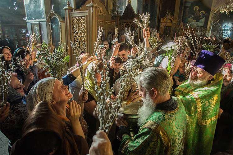 Вербное воскресенье в храме