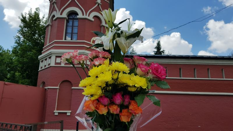 Цветы блаженной Матронушке